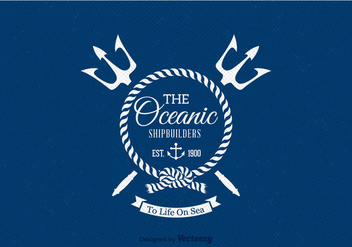 Free Retro Nautical Label Vector - Free vector #344645