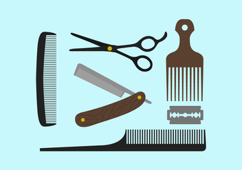 Barber Tools - Free vector #344745