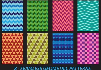 Seamless Geometric Herringbone Patterns - vector gratuit #344795