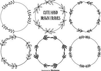 Cute Hand Drawn Frames Set - Free vector #344805