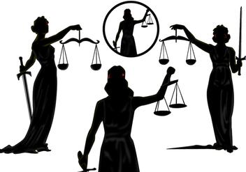 Lady Justice Vectors - Kostenloses vector #344885