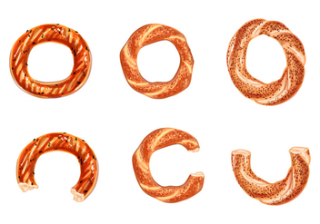 Turkish bagels - vector gratuit #345135