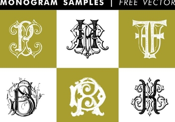 Monogram Samples Free Vector - vector gratuit #345255