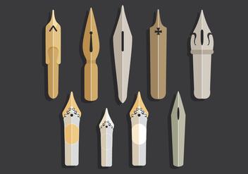 Pen Nib Vectors - Free vector #345355