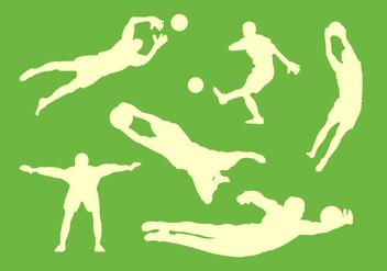 Goal Keeper Vectors - Free vector #345515