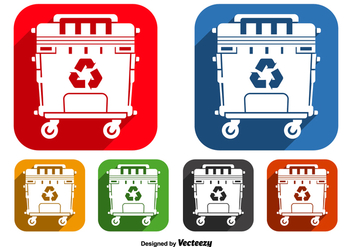 Dumpster icons - vector #345545 gratis