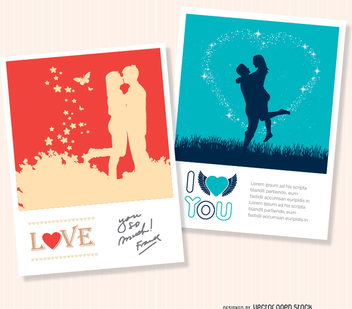 2 Valentine's love cards - Free vector #345795