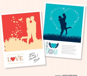 2 Valentine's love cards - Kostenloses vector #345795