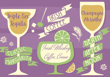 Free Various Cocktails Vector Background - Free vector #346045