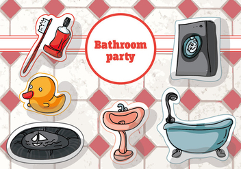 Free Hand Drawn Bathroom Vector Background - Free vector #346055
