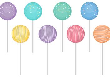 Cake Pops Vectors - Free vector #346075