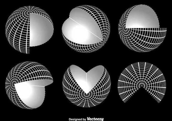 White globe grid vectors - бесплатный vector #346095