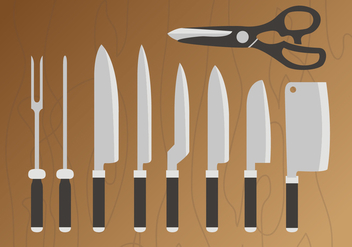 Knives Pack Vector - Free vector #346305