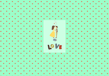 Valentine's day pattern background - Free vector #346325