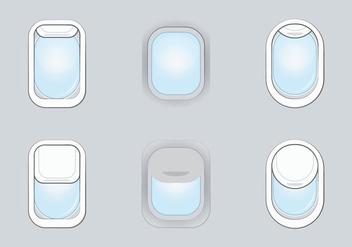 Free Plane Window Vector Illustration - Free vector #346355