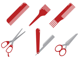 Barber Tools Vector - Free vector #346365