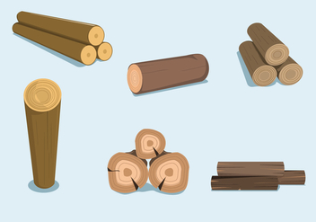Wood Logs Vector - Free vector #346375
