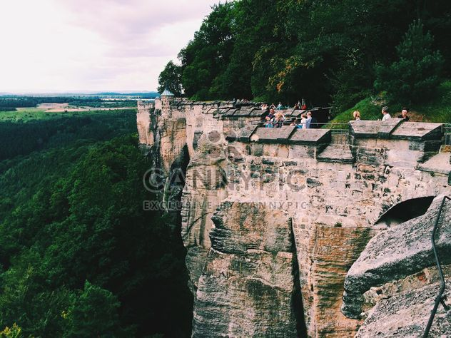 Красивый пейзаж с каменной стеной, Германия - бесплатный image #346565