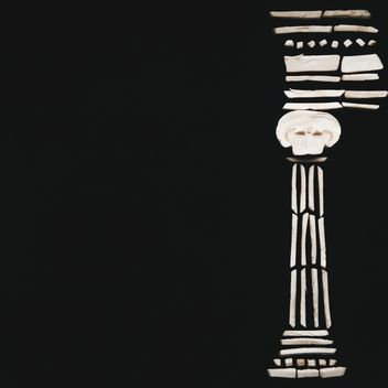Ionic column on black background - image gratuit #346575