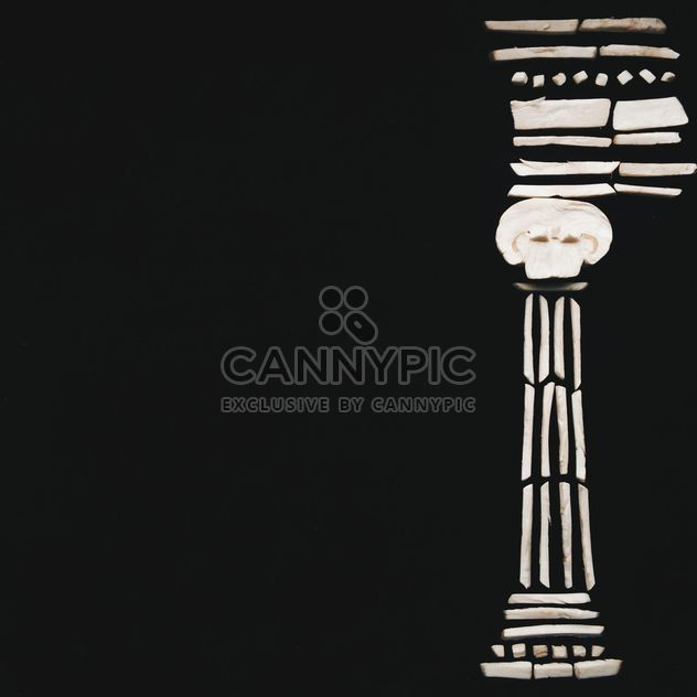 Ionic column on black background - image #346575 gratis