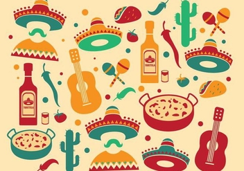 Vector Mariachi Pattern - Free vector #346665