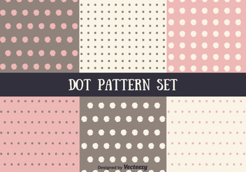 Pink and Brown Vector Dot Pattern Set - Kostenloses vector #346805