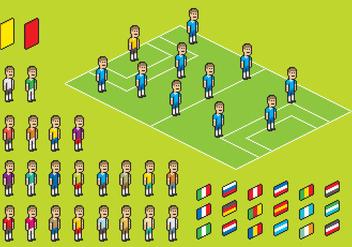 Pixel Soccer Player Vectors - Free vector #346845