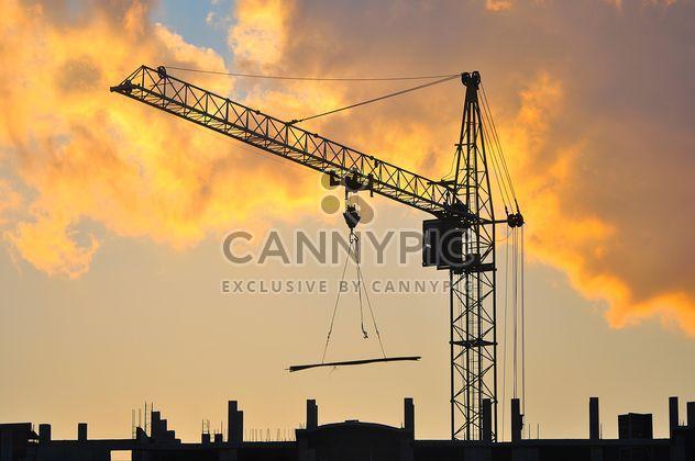 Строительный кран на закате - Free image #346895