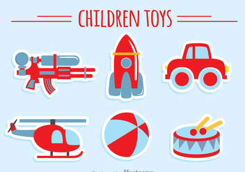 Children Toys Collection - vector gratuit #347055