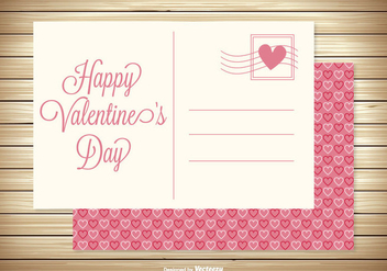 Cute Valentine's Day Post Card - vector gratuit #347085
