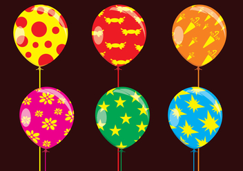 Fun Balloons Vectors - Free vector #347115