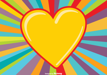 Colorful Heart Burst Background - Free vector #347125