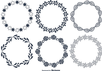 Decorative Round Frames - Free vector #347485