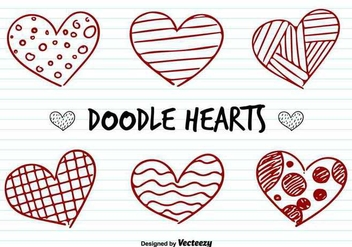 Love Hearts Doodle Vectorss - Free vector #347505