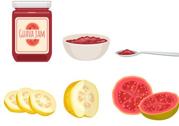 Guava Jam Vectors - Free vector #347615