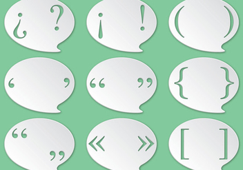 Punctuation Marks Speech Bubble Vectors - Free vector #347625