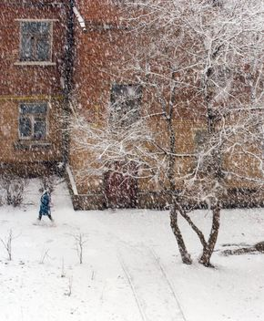 Snowfall in city of Podolsk, Russia - бесплатный image #347735