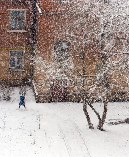 Snowfall in city of Podolsk, Russia - Free image #347735
