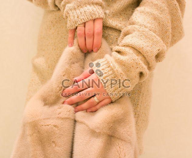 Fur coat in female hands clsoeup - Free image #347955