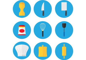 Kitchen Set Icon - vector #348045 gratis