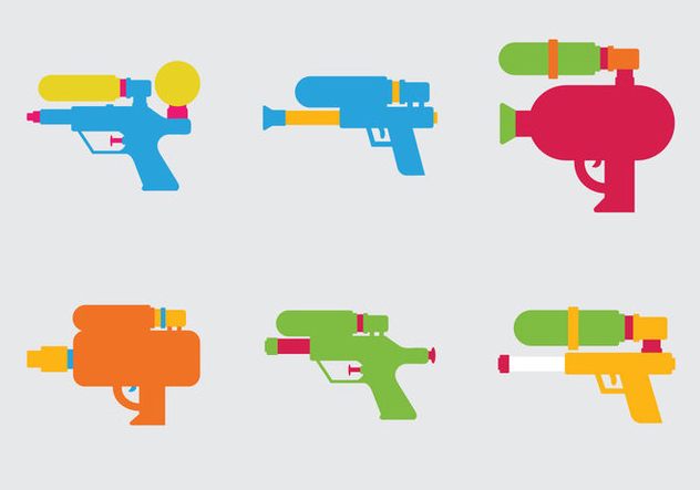 Free Water Gun Vector Illustration - Free vector #348145
