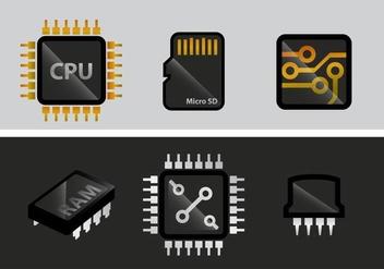 Microchip Vector - Kostenloses vector #348215