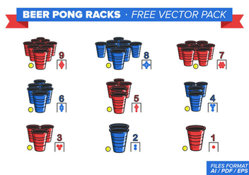 Beer Pong Racks Free Vector Pack - vector #348275 gratis