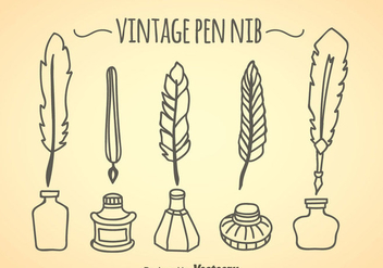 Vintage Pen Nib Collection - vector gratuit #348295