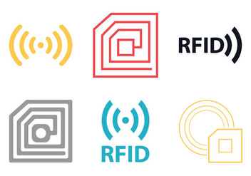 Free Rfid Vector Icon - Free vector #348685