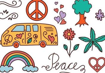 Free Hippie Vectors - Kostenloses vector #348725