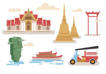 Bangkok Vectors - Free vector #348775