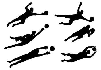 Goal Keeper Vector - Free vector #348785