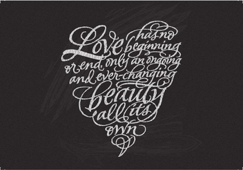 Love Quote Typography Decoration - vector gratuit #348905