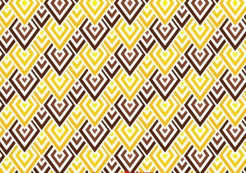 Brown And Yellow Chevron Pattern - Free vector #349175